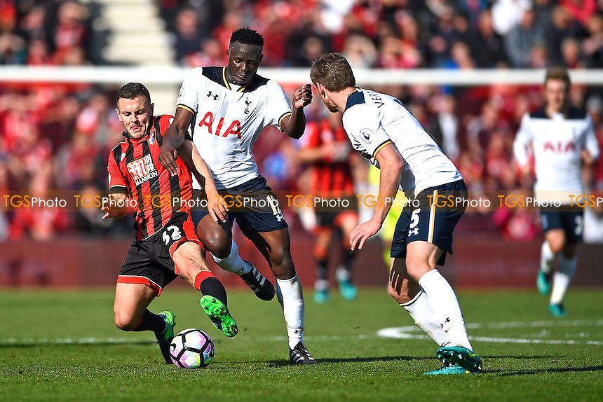 Jack Wilshere of AFC Bournemouth left is tackled by Victor Wanyama of Tottenham Hotspur during AFC Bournemouth vs Tottenham Hotspur, Premier League Football at the Vitality Stadium on 22nd October 2016