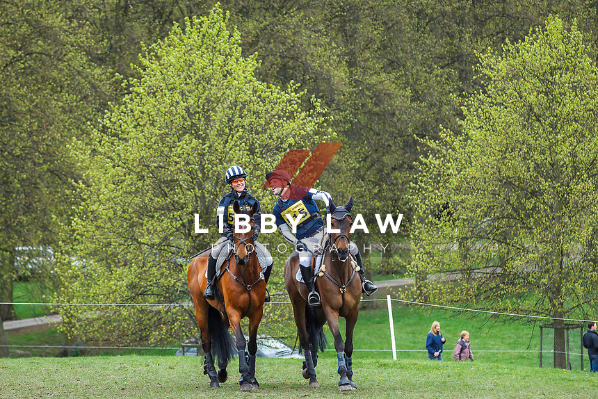 NZL-Caroline Powell and BRA-Carlos Paro. 2013 GBR-Chatsworth International Horse Trials. Sunday 12 May. Copyright Photo: Libby Law Photography