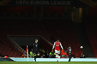 28th November 2019; Emirates Stadium, London, England; UEFA Europa League Football, Arsenal versus Frankfurt; A dejected Joe Willock of Arsenal in front of an empty stand - Editorial Use