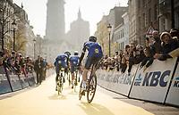 Team Deceuninck - Quick Step is the very last team off to sign-on<br /> <br /> 103rd Ronde van Vlaanderen 2019<br /> One day race from Antwerp to Oudenaarde (BEL/270km)<br /> <br /> ©kramon