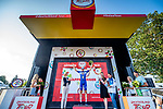 Kasper Asgreen (DEN) Deceuninck-Quick Step wins Stage 3 of the Deutschland Tour 2019, running 189km from Gottingen to Eisenach, Germany. 31st August 2019.<br /> Picture: ASO/Henning Angerer | Cyclefile<br /> All photos usage must carry mandatory copyright credit (© Cyclefile | ASO/Henning Angerer)