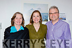 Julia, Ellen and Matt Cranitch at Deloras Lyne art exhibition launch in Killarney Library on Saturday
