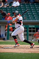 Indianapolis Indians Will Craig (25) at bat during an International League game against the Syracuse Mets on July 17, 2019 at Victory Field in Indianapolis, Indiana.  Syracuse defeated Indianapolis 15-5  (Mike Janes/Four Seam Images)