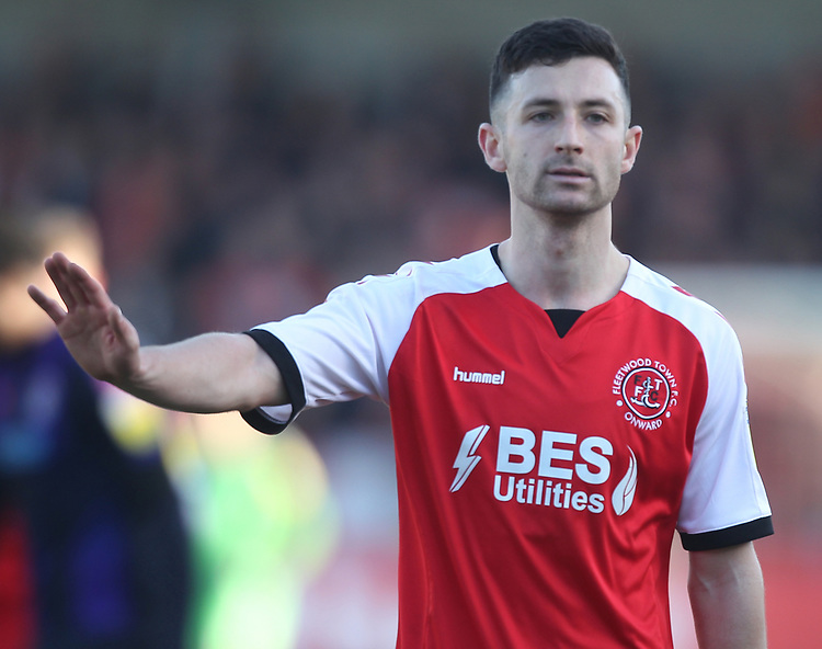 Fleetwood Town's Jason Holt<br /> <br /> Photographer Mick Walker/CameraSport<br /> <br /> The EFL Sky Bet League One - Fleetwood Town v Luton Town - Saturday 16th February 2019 - Highbury Stadium - Fleetwood<br /> <br /> World Copyright © 2019 CameraSport. All rights reserved. 43 Linden Ave. Countesthorpe. Leicester. England. LE8 5PG - Tel: +44 (0) 116 277 4147 - admin@camerasport.com - www.camerasport.com