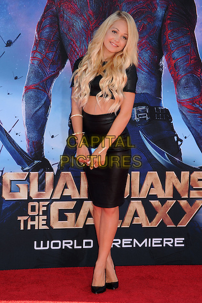 21 July 2014 - Hollywood, California - Kelli Berglund. 'Guardians of the Galaxy' Los Angeles Premiere held at the Dolby Theatre. <br /> CAP/ADM/BP<br /> &copy;Byron Purvis/AdMedia/Capital Pictures
