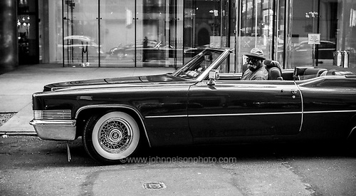 Fred and his Cadillac coupe de ville, New York