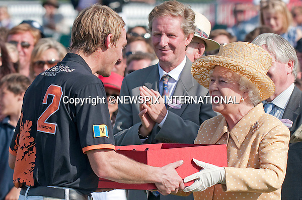 """QUEEN.having celebrated her Official Birthday yesterday was at Guards Polo Club for the Queen's Cup Final..Also present were Prince Phillip and Andrew Parker Bowles, Smith's Lawn, Windsor_14/06/2009.Mandatory Photo Credit: ©Dias/Newspix International..**ALL FEES PAYABLE TO: """"NEWSPIX INTERNATIONAL""""**..PHOTO CREDIT MANDATORY!!: NEWSPIX INTERNATIONAL(Failure to credit will incur a surcharge of 100% of reproduction fees)..IMMEDIATE CONFIRMATION OF USAGE REQUIRED:.Newspix International, 31 Chinnery Hill, Bishop's Stortford, ENGLAND CM23 3PS.Tel:+441279 324672  ; Fax: +441279656877.Mobile:  0777568 1153.e-mail: info@newspixinternational.co.uk"""