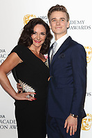 Shirley Ballas and Joe Sugg at the Virgin Media BAFTA Television Awards 2019 - Press Room at The Royal Festival Hall, London on May 12th 2019<br /> CAP/ROS<br /> ©ROS/Capital Pictures