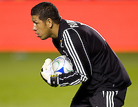 RSL's goalkeeper Nick Rimando makes a save. Real Salt Lake and Chivas USA played to a 2-2 draw in a MLS first round Western Conference playoff match. RSL advances on from aggregate total score at Home Depot Center stadium in Carson, California on Saturday November 8, 2008. Photo by Michael Janosz/isiphotos.com