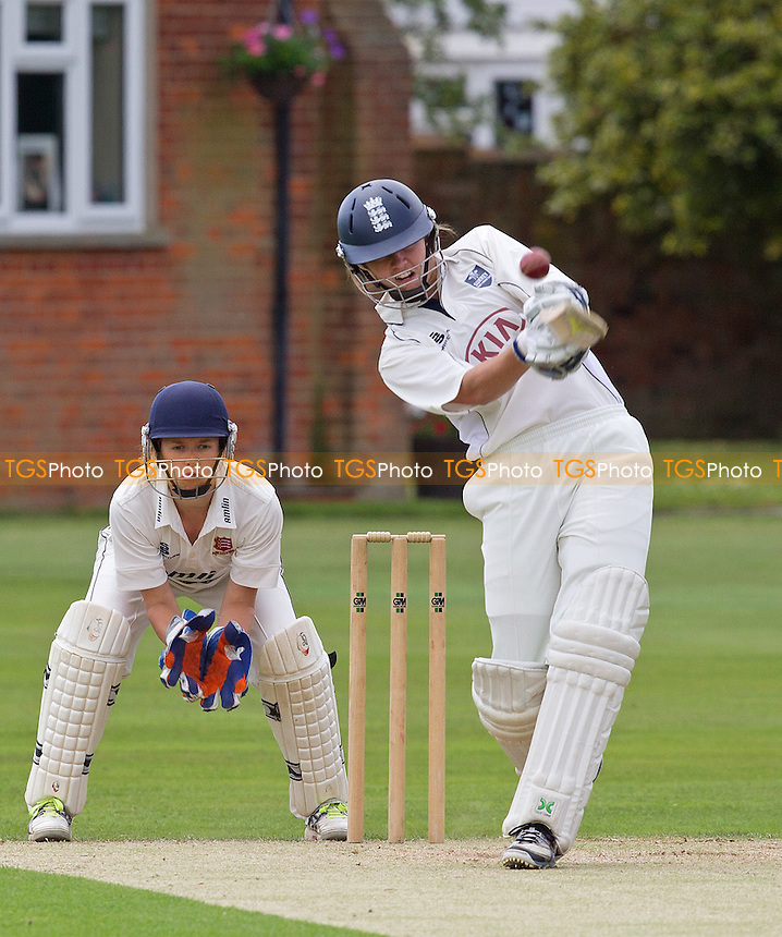 Natalie Sciver of Surrey hits over the top - Essex Women v Surrey Women, Division 1 Royal London Women's One Day Cup, Felsted School, Essex - 25/05/14 - MANDATORY CREDIT: Ray Lawrence/TGSPHOTO - Self billing applies where appropriate - 0845 094 6026 - contact@tgsphoto.co.uk - NO UNPAID USE