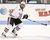Cody Ferriero (Northeastern - 79) - The visiting Merrimack College Warriors defeated the Northeastern University Huskies 4-3 (OT) on Friday, February 4, 2011, at Matthews Arena in Boston, Massachusetts.