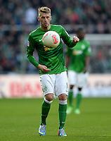 FUSSBALL   1. BUNDESLIGA   SAISON 2012/2013    30. SPIELTAG SV Werder Bremen - VfL Wolfsburg                          20.04.2013 Aaron Hunt (SV Werder Bremen)