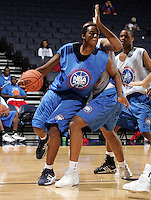 C/F Kenny Kadji (Bradenton, FL / IMG Academy) shoots the ball during the NBA Top 100 Camp held Saturday June 23, 2007 at the John Paul Jones arena in Charlottesville, Va. (Photo/Andrew Shurtleff)