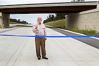 NWA Democrat-Gazette/JASON IVESTER <br /> Dick Trammel, Arkansas Highway Commissioner, speaks on Friday, Aug. 21, 2015, during a ribbon-cutting ceremony to mark the opening of another two-mile section of the ultimate 21-mile Bella Vista Bypass in Gravette.