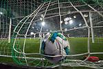 12.03.2018, Weserstadion, Bremen, GER, 1.FBL, SV Werder Bremen vs 1. FC Koeln<br /> <br /> im Bild<br /> Milos Veljkovic (Werder Bremen #13) mit Torschuss und Treffer zum 1:0, aufgenommen mit remote / Hintertorkamera, Timo Horn (Koeln #01), <br /> <br /> Foto &copy; nordphoto / Ewert