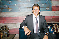 "Jay Faison is the founder and CEO of ClearPath Foundation. He is seen here posing for a portrait after speaking on a panel put on by the Washington Post called ""Party Platform: Energy and Environment,"" at Butcher and the Brewer outside the Republican National Convention in Cleveland, Ohio, on Tues., July 19, 2016."