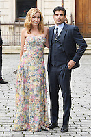 Katherine Jenkins (L) and Andrew Levitas arrive for the VIP preview of the Royal Academy of Arts Summer Exhibition 2016