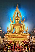 "Buddha called ""Phra Buddhajinaraja"", Wat Benchamabophit, Bangkok, Thailand"