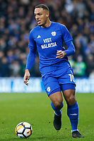 Kenneth Zohore of Cardiff City during the Fly Emirates FA Cup Fourth Round match between Cardiff City and Manchester City at the Cardiff City Stadium, Wales, UK. Sunday 28 January 2018