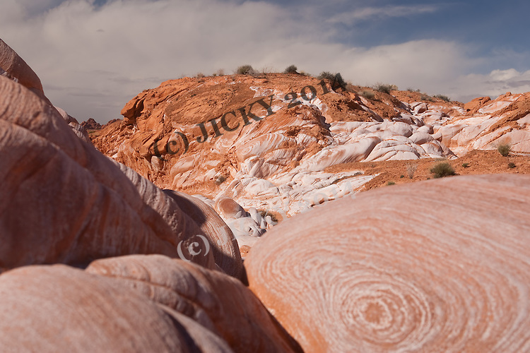 Calcite covered red sandstone