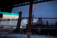 A man drives through the grounds of a Bashneft oil refinery in Moscow, Russia. The area is a major oil and gas producing region in the country.
