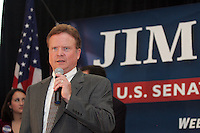 Democratic Senate hopeful Jim Webb spoke to a large crowd of supporters during a rally held Monday October 30, 2006 on campus at the University of Virginia in Charlottesville, Va. Photo/Andrew Shurtleff