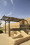 Israel, Negev desert, Tel Beer Sheba, the 70 meters deep water well of the Biblical city of Beer Sheba, UNESCO World Heritage Site
