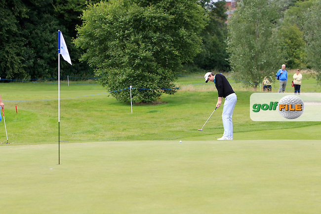 Niall Turner (IRL) on the 3rd green during Round 2 of the Northern Ireland Open in Association with Sphere Global &amp; Ulster Bank at Galgorm Castle Golf Club on Friday 7th August 2015.<br /> Picture:  Thos Caffrey / www.golffile.ie