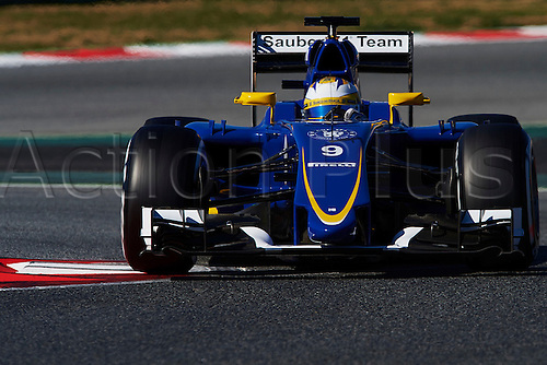 28.02.2015. Barcelona, Spain. F1 winter testing at Circuit de Barcelona.  Marcus Ericsson (Sauber), during day three of the final Formula One Winter Testing