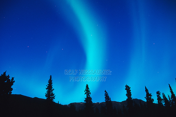 Northern Lights or Aurora Borealis, Tangle Lake, Alaska, USA