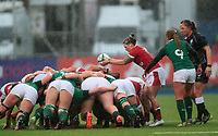 9nd February 2020; Energia Park, Dublin, Leinster, Ireland; International Womens Rugby, Six Nations, Ireland versus Wales; Keira Bevan (Wales) prepares to put in to the scrum