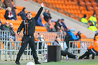Blackpool FC manager Gary Bowyer during the Sky Bet League 1 match between Blackpool and Bradford City at Bloomfield Road, Blackpool, England on 7 April 2018. Photo by Thomas Gadd.