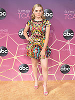 05 August 2019 - West Hollywood, California - Meg Donnelly. ABC's TCA Summer Press Tour Carpet Event held at Soho House.    <br /> CAP/ADM/BB<br /> ©BB/ADM/Capital Pictures