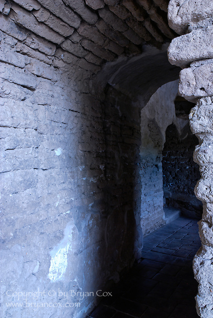 Passageway to the bell tower, Tumacacori Mission, Tumacacori National Historical Park