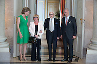 King Philippe and Queen Mathilde of Belgium meet with jazz musician Toots Thielemans - Belgium