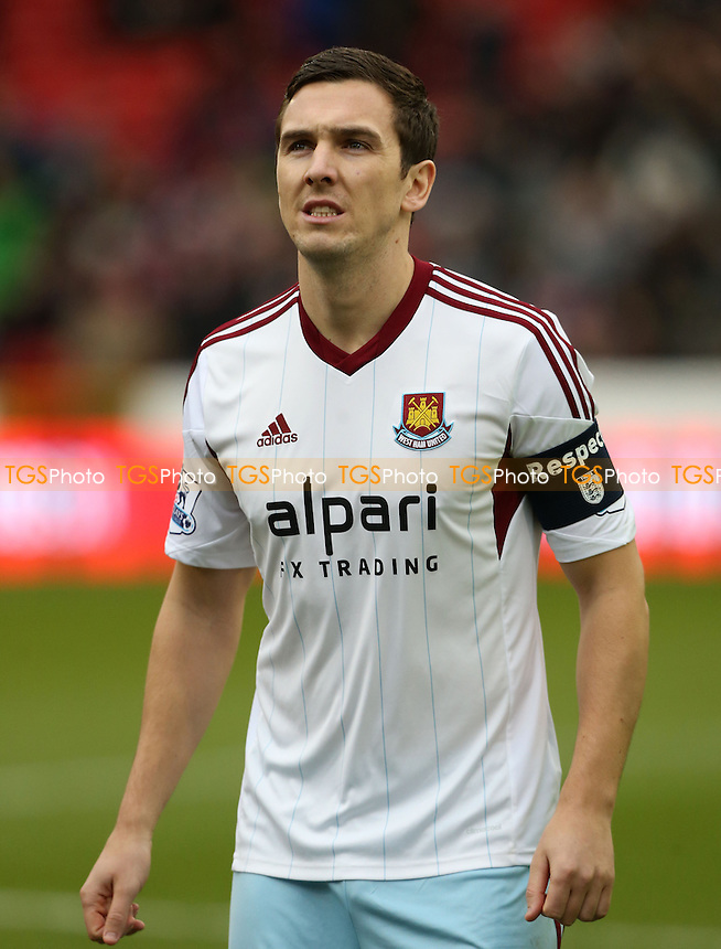 West Ham captain for the day Stewart Downing - Nottingham Forest vs West Ham United, FA Cup 3rd Round at the City Ground, Nottingham - 05/01/14 - MANDATORY CREDIT: Rob Newell/TGSPHOTO - Self billing applies where appropriate - 0845 094 6026 - contact@tgsphoto.co.uk - NO UNPAID USE