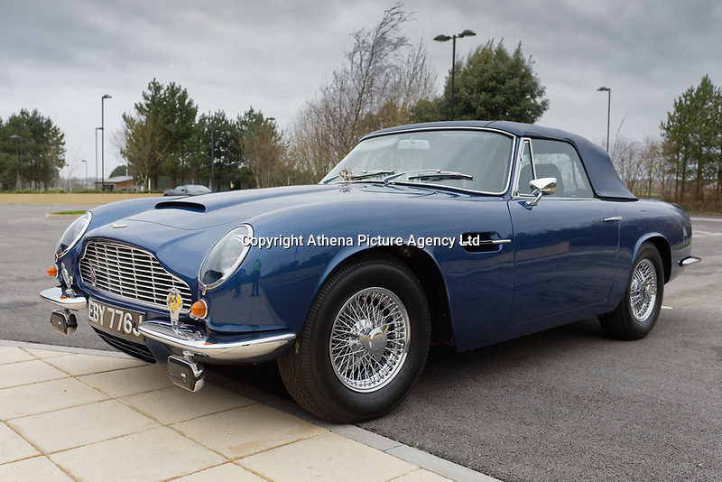 Pictured: The 1960 Aston Martin DB6 Volante owned by Prince Charles. Friday 21 February 2020<br /> Re: HRH Prince Charles visits the Aston Martin Lagonda factory in St Athan, south Wales, UK.