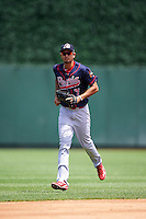 Peoria Chiefs right fielder Carlos Torres (7) jogs to the dugout during the first game of a doubleheader against the South Bend Cubs on July 25, 2016 at Four Winds Field in South Bend, Indiana.  South Bend defeated Peoria 9-8.  (Mike Janes/Four Seam Images)
