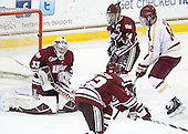 Kevin Boyle (UMass - 33), T.J. Syner (UMass - 14), Kevin Hayes (BC - 12) - The Boston College Eagles defeated the University of Massachusetts-Amherst Minutemen 3-2 to take their Hockey East Quarterfinal matchup in two games on Saturday, March 10, 2012, at Kelley Rink in Conte Forum in Chestnut Hill, Massachusetts.