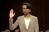 Washington, DC - April 8, 2004 -- Doctor Condoleezza Rice, National Security Advisor, is sworn-in to testify before the 9/11 Commission in Washington, D.C. on April 8, 2004.<br /> Credit: Ron Sachs / CNP<br /> [RESTRICTION: No New York Metro or other Newspapers within a 75 mile radius of New York City]