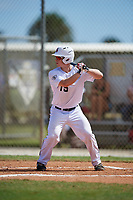 Robert Antonetti during the WWBA World Championship at the Roger Dean Complex on October 20, 2018 in Jupiter, Florida.  Robert Antonetti is a catcher from Colleyville, Texas who attends Grapevine High School.  (Mike Janes/Four Seam Images)