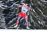 Norway's Marit Bjoergen competes during the FIS Ski World Cup 1.3 Km Sprint Free Qualification, on February 2, 2014 in Dobbiaco, Toblach. <br /> <br /> &copy; Pierre Teyssot