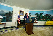 United States President Donald J. Trump makes remarks on the humanitarian crisis on the southern border of the US and on the partial shutdown of the federal government in the Diplomatic Reception Room of the White House in Washington, DC on Saturday, January 19, 2019.  In his remarks the President offered to grant provisional status to current Deferred Action for Childhood Arrivals (DACA) and Temporary Protected Status (TPS) recipients in exchange for funding his border security system and to reopen the federal government.<br /> Credit: Ron Sachs / Pool via CNP