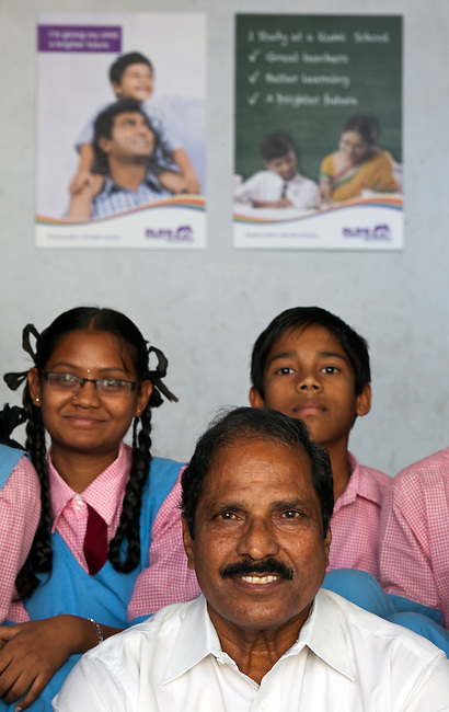 30 November 2011 : The correspondent of Kairali school interacting with students and teachers which is a partner school with the new Rumi Education education model run by the Richard Chandler corporation in Hyderabad, India. Pictures by Graham Crouch