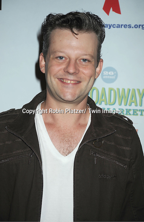 Jeremy Kushnier attends the 26th Annual Broadway Flea Market and Grand Auction benefitting Broadway Cares/ Equity Fights Aids on September 23, 2012 at the Shubert Theatre in New York City.