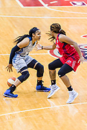 Washington, DC - Sept 17, 2017: Minnesota Lynx forward Maya Moore (23) makes a move by Washington Mystics guard Tierra Ruffin-Pratt (14) during playoff game between the Mystics and Lynx at the Verizon Center in Washington, DC. (Photo by Phil Peters/Media Images International)