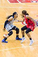 Washington, DC - Sept 17, 2017: Minnesota Lynx forward Maya Moore (23) makes a move by Washington Mystics guard Tierra Ruffin-Pratt (14) during playoff game between the Mystics and Lynx at the Verizon Center in Washington, DC. (Photo by Phil Peters/Media Images International)