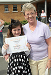 Alice Donnelly and her granny Peggy Donnelly at the Moneymore After School Club Awards...Photo NEWSFILE/Jenny Matthews.(Photo credit should read Jenny Matthews/NEWSFILE)....This Picture has been sent you under the condtions enclosed by:.Newsfile Ltd..The Studio,.Millmount Abbey,.Drogheda,.Co Meath..Ireland..Tel: +353(0)41-9871240.Fax: +353(0)41-9871260.GSM: +353(0)86-2500958.email: pictures@newsfile.ie.www.newsfile.ie.FTP: 193.120.102.198.