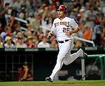 11 July 2008: Washington Nationals' right fielder Austin Kearns trots home after hitting his 99th career home run in the sixth inning against the Houston Astros at Nationals Park in Washington, DC. The Nationals shut out the Astros 10-0 in the first game of their 3-game series...Mandatory Photo Credit: Ed Wolfstein Photo