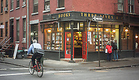 Three Lives and Company, an independent bookstore is seen in the Greenwich Village neighborhood of New York on Wednesday, January 30, 2013.  Few independent bookstores remain and the ones that are still in business tend to specialize in various subjects. (© Richard B. Levine)